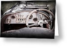 1925 Aston Martin 16 Valve Twin Cam Grand Prix Steering Wheel -0790ac Greeting Card