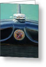 1925 Cadillac Hood Ornament And Emblem Greeting Card