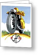 1925 Fn Motorcycles Advertising Poster Greeting Card