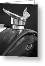 1925 Ford Model T Hood Ornament 2 Greeting Card
