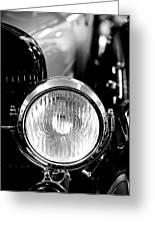 1925 Lincoln Town Car Headlight Greeting Card