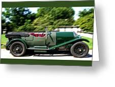 1926 Bentley Automobile Greeting Card
