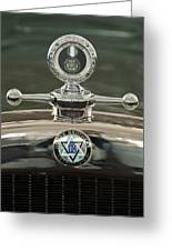 1926 Dodge Woody Wagon Hood Ornament Greeting Card