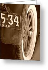 1926 Model T Ford Greeting Card