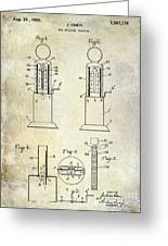 1926 Toy Filling Station Patent Greeting Card