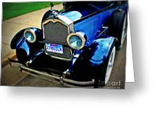 1927 Blue Buick Greeting Card
