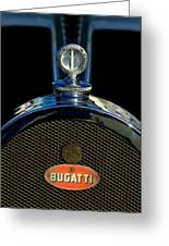1927 Bugatti Replica Hood Ornament Greeting Card by Jill Reger