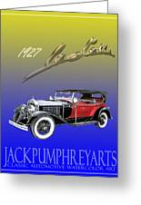 1927 Lasalle Greeting Card