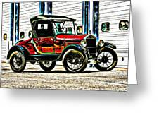 1927 Model T Ford Roadster Greeting Card