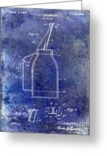 1927 Oil Can Patent Blue Greeting Card