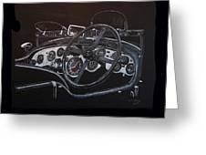 1928 Bentley Dash Greeting Card