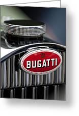 1928 Bugatti Hood Emblem Greeting Card