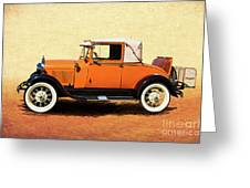 1928 Classic Ford Model A Roadster Greeting Card