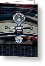 1928 Dodge Brothers Hood Ornament Greeting Card