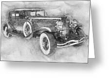 1928 Duesenberg Model J - Automotive Art - Car Posters Greeting Card