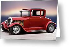 1928 Ford 'hot Rod A' Coupe Greeting Card