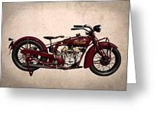 1928 Indian Motorcycle Greeting Card