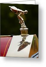 1928 Rolls-royce Phantom 1 Hood Ornament Greeting Card
