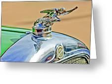 1928 Studebaker Hood Ornament Greeting Card