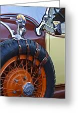 1928 Studebaker President Roadster Spare Tire Greeting Card