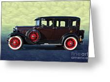 Historical Ford 4 Door Sedan Greeting Card