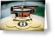 1929 Bentley 4.5-litre Open Tourer Hood Ornament Greeting Card
