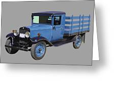 1929 Blue Chevy Truck 1 Ton Stake Body Greeting Card