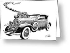 1929 Cadillac  Greeting Card