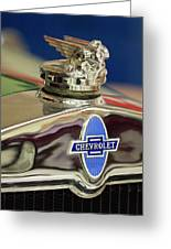 1929 Chevrolet Hood Ornament Greeting Card
