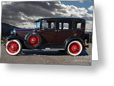 Classic 4 Door Ford Greeting Card