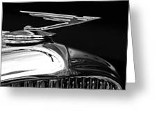 1929 Duesenberg Model J Hood Ornament 2 Greeting Card