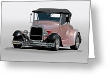 1929 Ford 'champagne Blush' Roadster Greeting Card