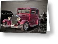 1929 Ford Model A Tudor Sedan Greeting Card by Gene Healy