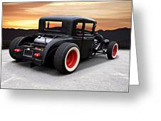 1929 Ford 'rock N Roll' Coupe Greeting Card