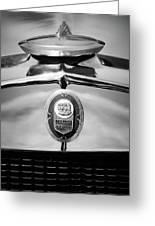 1929 Graham-paige Sport Roadster Emblem -0810bw Greeting Card