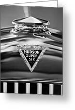 1929 Hudson Cabriolet Hood Ornament 2 Greeting Card