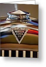 1929 Hudson Cabriolet Hood Ornament Greeting Card