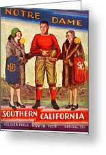 1929 Notre Dame Versus Southerncal Greeting Card