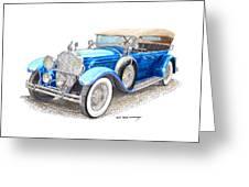 1929 Packard Dual Cowl Phaeton Greeting Card