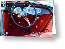 1929 Roadster Dashboard Greeting Card