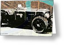 1930 Bentley 4.5 Litre Over New Orleans Old Map Greeting Card