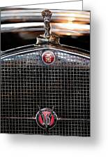 1930 Cadillac Roadster Hood Ornament 3 Greeting Card by Jill Reger