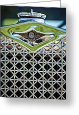 1930 Db Dodge Brothers Hood Ornament And Grille Greeting Card