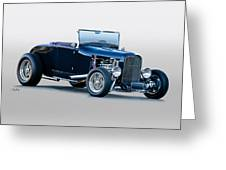 1930 Ford 'blu Mood' Roadster Greeting Card