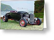 1930 Ford Model A Roadster 'oceanside' Greeting Card