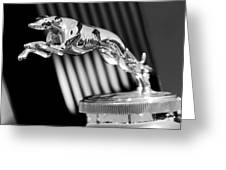 1930 Lincoln Berline Hood Ornament Greeting Card by Jill Reger