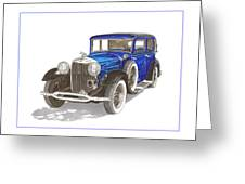 1930 Lincoln L Berline Greeting Card