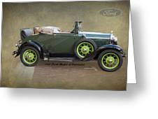 1930 Model A Ford Cabriolet Greeting Card