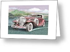 1930 Model J  Duesenberg Greeting Card