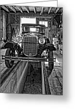 1930 Model T Ford Monochrome Greeting Card